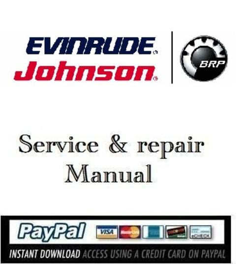 Product picture Download Service manual Evinrude E-TEC 115-200 hp 2009